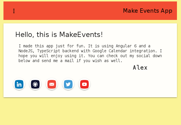 MakeEvents App Demo